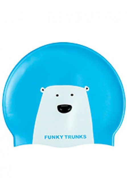 FUNKY TRUNKS BEAR GRILLS SILICONE SWIM CAP